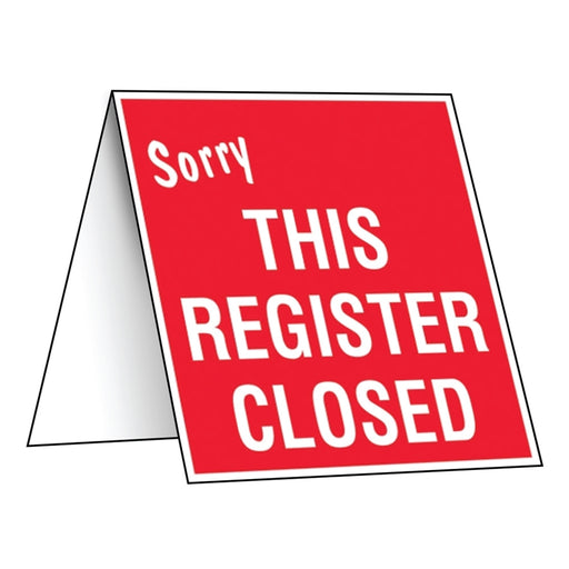"3.5""w x 3.75""h"" Counter Sign- ""This Register Closed"""