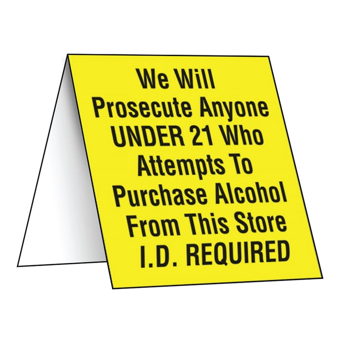 "Counter Sign- ""We Will Prosecute..."""