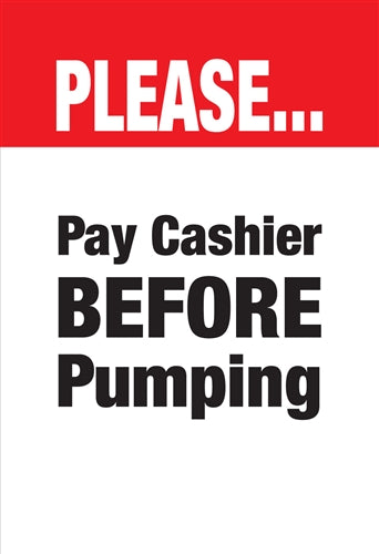 Please Pay Cashier- Waste Container Insert