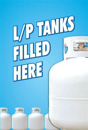 "Waste Container Insert- ""LP Tanks Filled Here"""