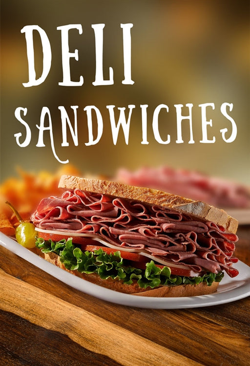 "Waste Container Insert- ""Deli Sandwiches"""