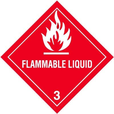 "4"" Square Decal- ""Flammable Liquid"""