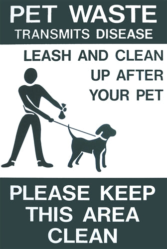 DOGIPOT™ On Leash - Aluminum Sign