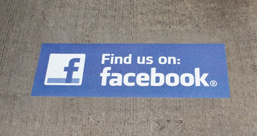 Find us on Facebook' Event-Trac Decal