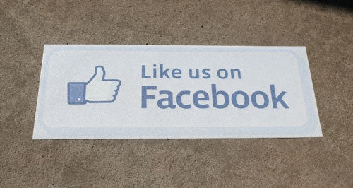 Like us on Facebook' Event-Trac Decal