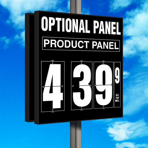 "16"" Flip Numbers- Single-Product, Double-Sided Pole Mount w/ Optional Panel"