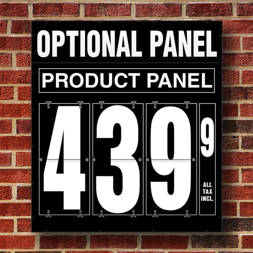 "20"" Flip Numbers- Single-Product, Wall or Pole Mount w/ Optional Panel"