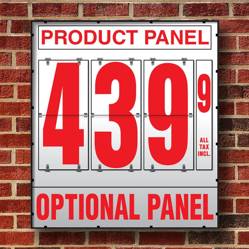 "20"" Flip Numbers- Single-Product, Wall or Pole Mount w/ Optional Bottom Panel"