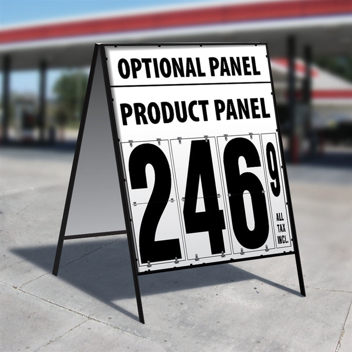 "24"" Flip Numbers- 1 Product, Double Sided A-Frame w/Optional panel"