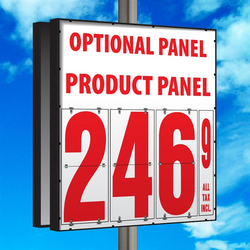 "24"" Flip Numbers- Single-Product, Double-Sided Pole Mount w/ Optional Panel"