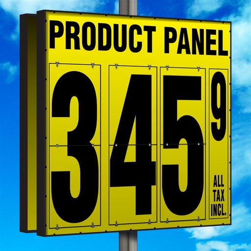 "40"" Flip Numbers- Single-Product, Double-Sided Pole Mount"