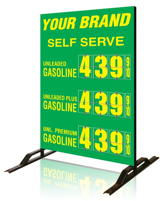 Three Product Flip All Double Sided Sign