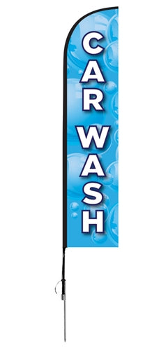 """Car Wash"" Flag- Blade Style"
