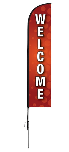 """Welcome"" Flag- Blade Style"