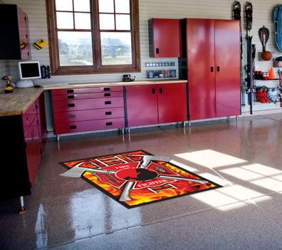 FireFighter Concrete Floor Decal