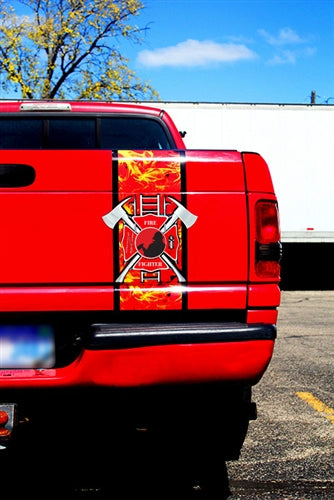 FireFighter BedBand Tailgate Decal