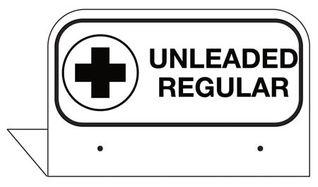 "Aluminum FPI Tags- ""Unleaded Regular"""