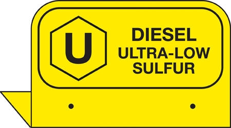 "Aluminum FPI Tags- ""Diesel Ultra-Low Sulfur"""