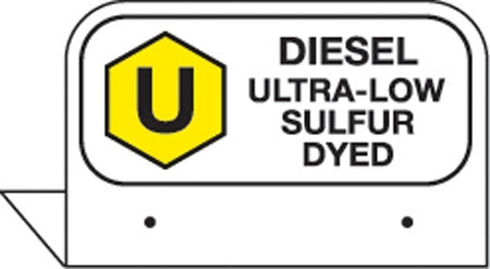 "Aluminum FPI Tags- ""Diesel Ultra Low Sulfur Dyed"""