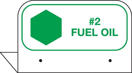 "Aluminum FPI Tags- ""#2 Fuel Oil"""