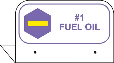 "Aluminum FPI Tags- ""#1 Fuel Oil"""