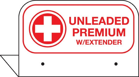 "Aluminum FPI Tags- ""Premium Unleaded W/Extender"""