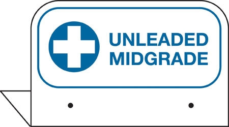"Aluminum FPI Tags- ""Unleaded Midgrade"""