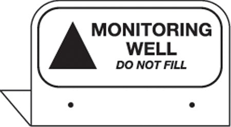 "Aluminum FPI Tags- ""Monitoring Well"""