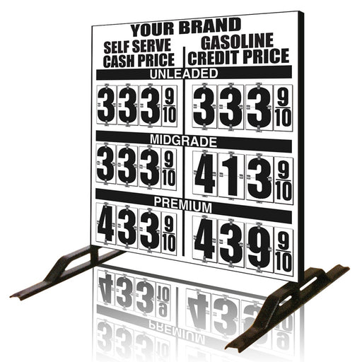 Dual Cash/Credit Gas Price Flip Sign Three-Product