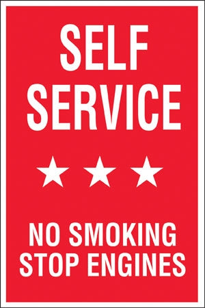 "Aluminum Pole sign- ""Self Service"""