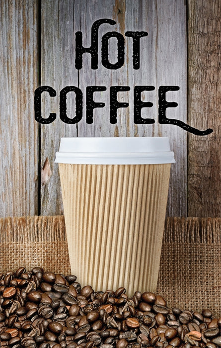 "Hot Coffee- 24"" x 36"" Aluminum Pole Sign"