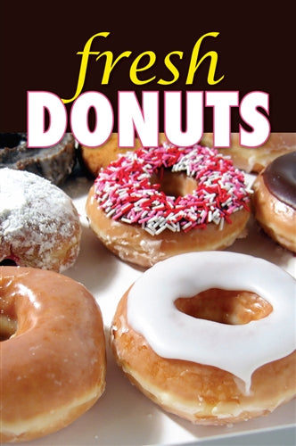 "Aluminum Two Sided Panel for Flexible Curb Sign ""Fresh Donuts"""