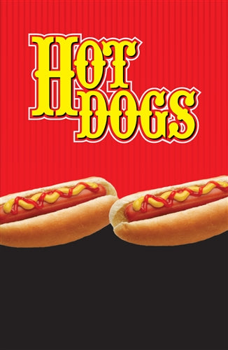 "Aluminum Two Sided Panel for Flexible Curb Sign ""Hot Dogs Got Mustard?"""