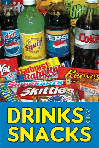 "Aluminum Two Sided Panel for Flexible Curb Sign ""Drinks And Snacks"""