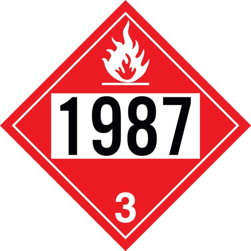 "Aluminum Truck Placard- ""1987"" Alcohol"