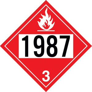 "Styrene Truck Placard- ""1987"" Alcohol"