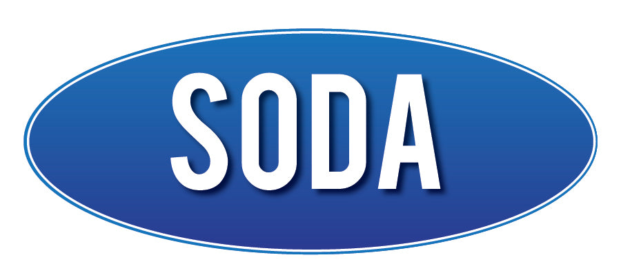 Soda Store Sign Blue