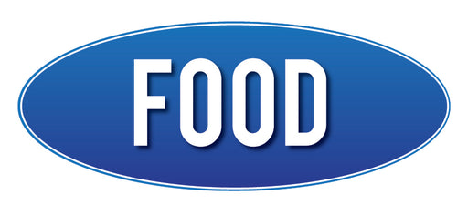 Food Store Sign Blue