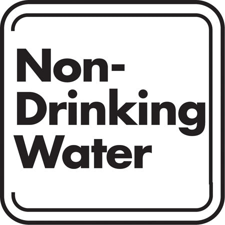 "Aluminum Sign- ""Non-Drinking Water"""