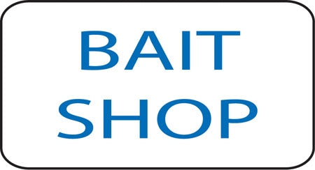 "Aluminum Sign- ""Bait Shop"""