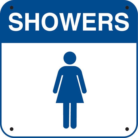 ".040 Aluminum- ""Showers"" Women Symbol"