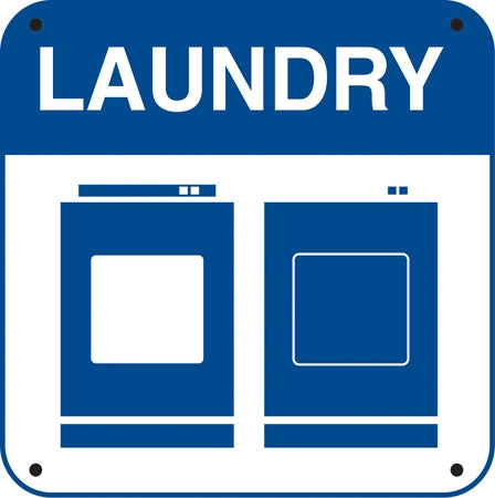 "Aluminum Sign- ""Laundry"" and Symbols"
