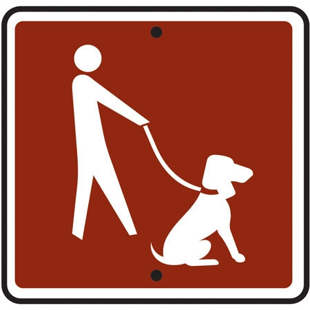 Reflective Sign - (Dog On Leash) Symbol