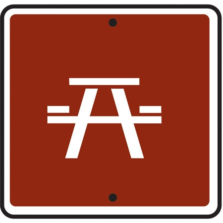 Reflective Sign - (Picnic Area) Symbol