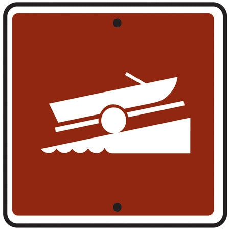 Reflective Sign - (Boat Launch) Symbol
