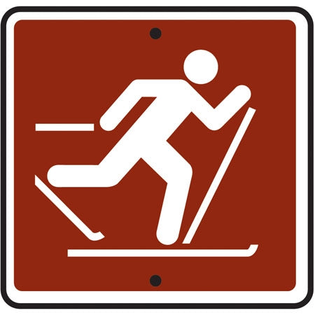 Reflective Sign (Skiing) Symbol