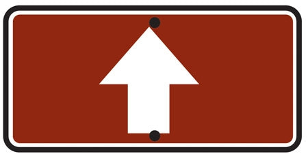 Reflective Sign Reversible Arrow Up/Down