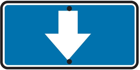Blue Reflective Sign Reversible Arrow Up/Down