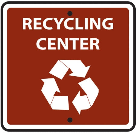 "Reflective Sign ""Recycling Center"" (Symbol)"