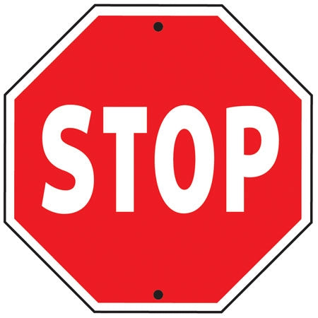 "Reflective Aluminum Sign ""Stop"""